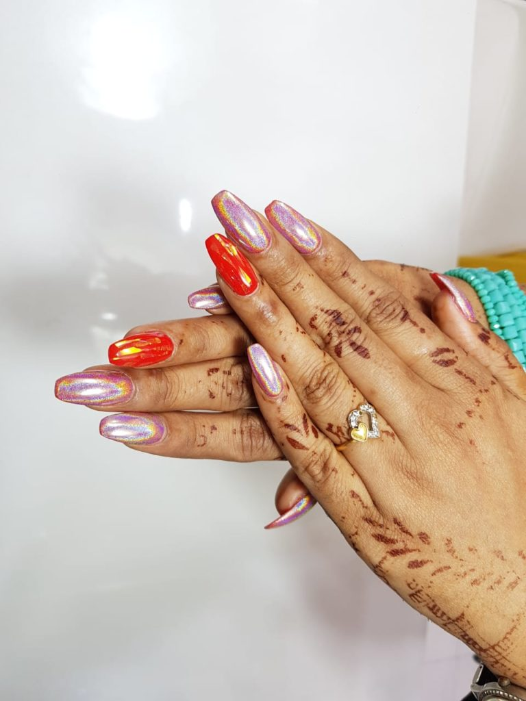 Acrylic nail extensions