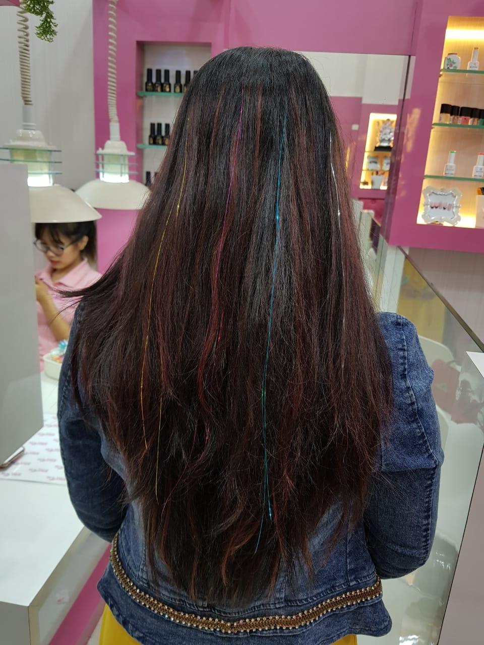 hair tinsel /hair blings .