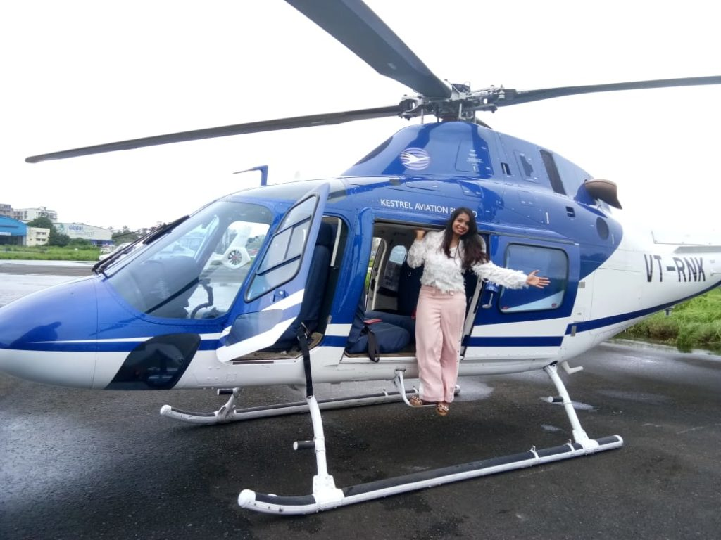 Helicopter ride by Hindustan times